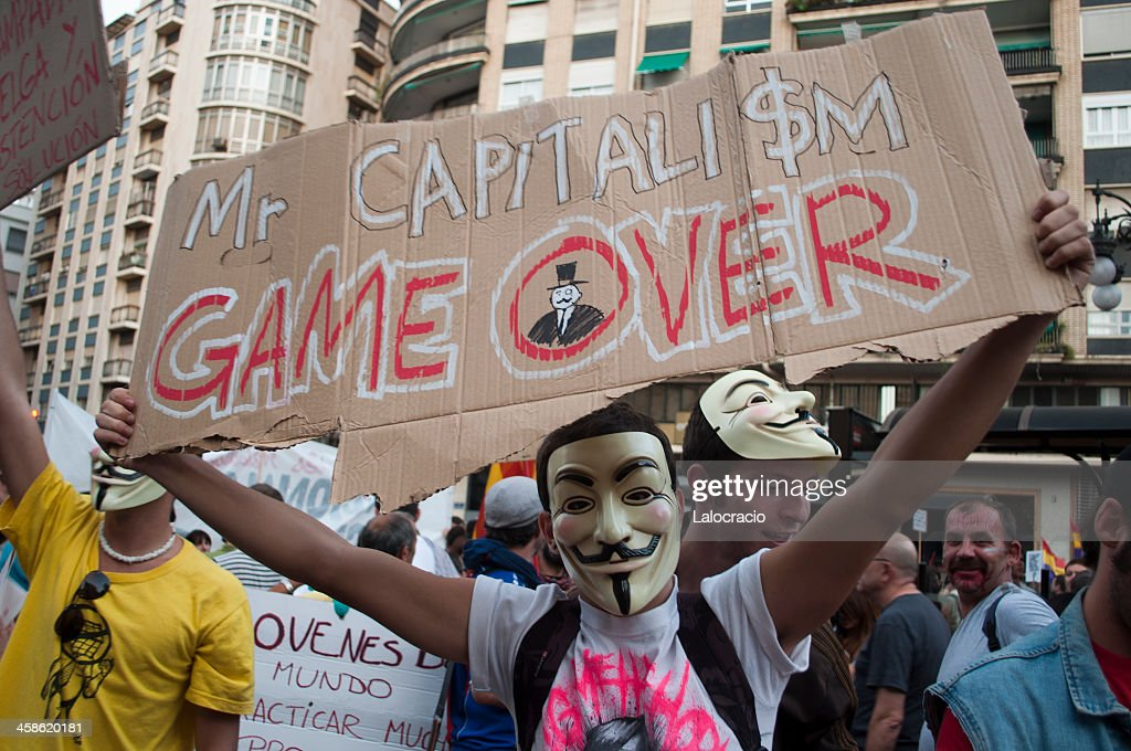 Mr. Capitalism game over : Stock Photo