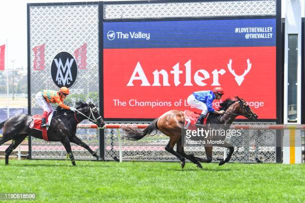 Mr Cashman ridden by Billy Egan wins the Antler Luggage Plate at Moonee Valley Racecourse on December 28, 2019 in Moonee Ponds, Australia.