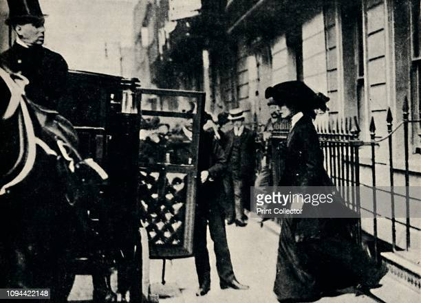 Mr Churchill Departs for Honeymoon' British politician and statesman Sir Winston Churchill married Clementine Hozier in 1908 They honeymooned in...
