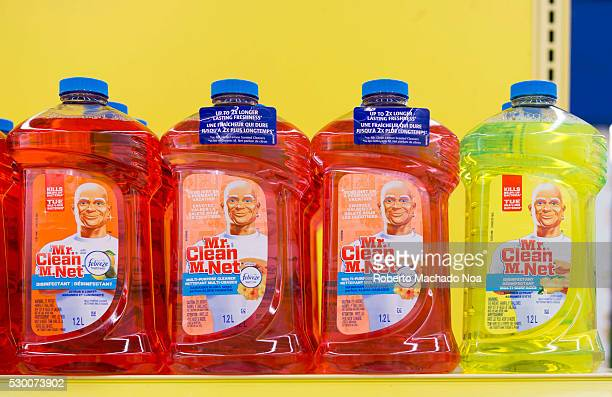 Mr Clean bottles stacked in a shelf Mr Clean products are among the best cleaning products out in the market and are enjoyed by many for its smell