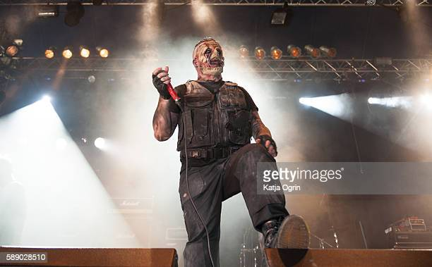 Mr. Clone of the heavy metal band Anti-Clone performs live on stage at Bloodstock Festival at Catton Park on August 12, 2016 in Burton upon Trent,...
