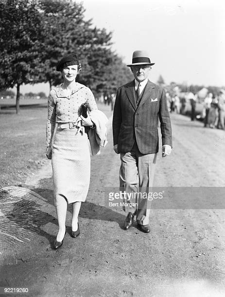 Mr. Conde Nast and Mrs. A. Charles Schwartz attend the National Open Finals, 1936.
