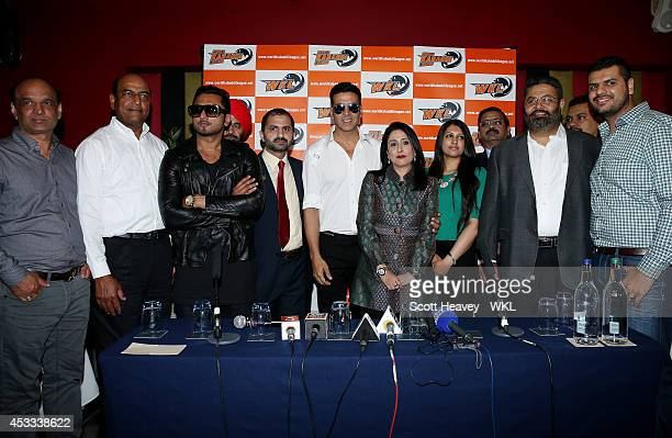 Mr Daljeet Thind Owner of California Eagles Mr Tut Owner of Yo Yo Tigers Honey Singh Lahore Lions manager Khalsa Warriors co owner Akshay Kumar Rajee...