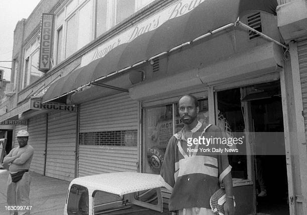 Mr Dan the owner of Dapper Dan's clothing store stands near site of street brawl between Mike Tyson and Mitch Green Tyson was in the neighborhood to...