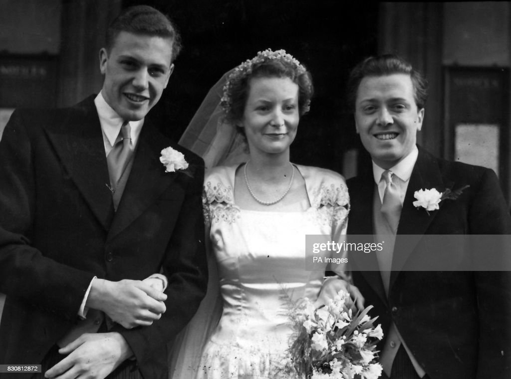 Jane Oriel weds David Attenborough : News Photo