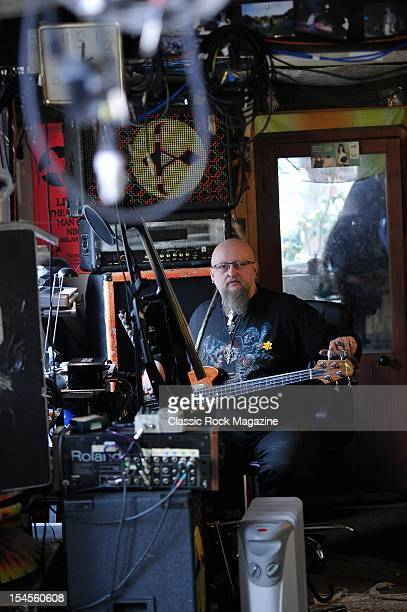 Mr Dibs of English prog rock band Hawkwind, inside their home recording studio on March 14, 2012 in Honiton.