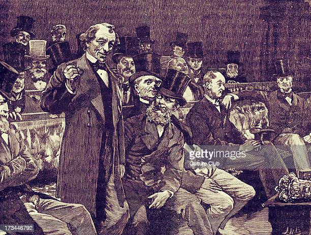 Mr Disraeli telling the House of Commons about 'dry champagne' in 1873 Benjamin Disraeli Earl of Beaconsfield British Conservative statesman and...