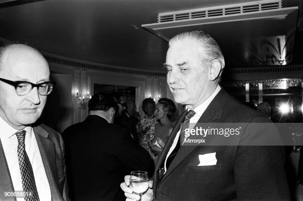 Mr Edward Pickering and Mr John Rickman at the Daily Mirror Punters Club Dinner Dorchester Hotel London 1st April 1970