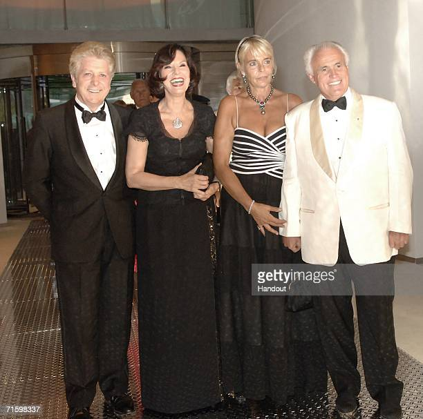 Mr Francis Vandenhende Mrs Denise Fabre Mr and Mrs Yves Piaget attend the Monaco Red Cross Ball under the Presidency of HSH Prince Albert II in the...