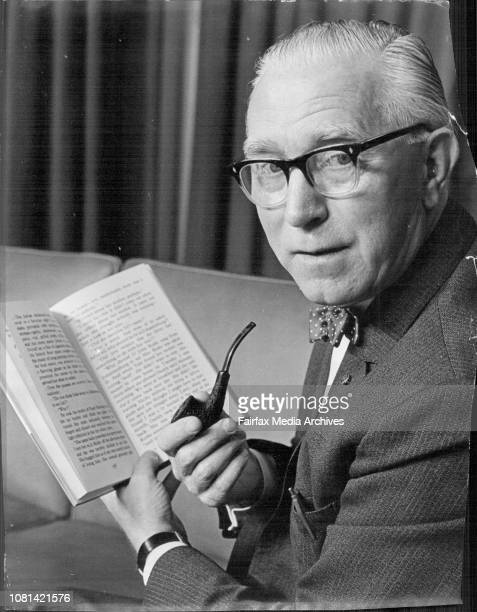Mr Fred Thorpe publisher of the Large Print Books for the partially sighted who arrived by Air New Zealand today August 11 1969