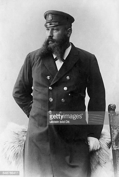 Mr Froehlich Captain of the passenger ship 'Patria' HamburgAmerica Line Portrait in Uniform undated Photographer Wilhelm Fechner Vintage property of...