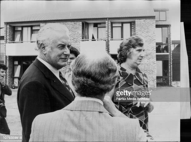 Mr G Whitlam and Margaret were at the Sir Moses Montefiore Jewish home for the Aged in High St Hunters Hill Which he Officially OpenedLooking around...