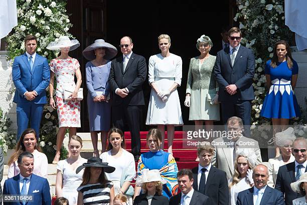 Mr Gareth Wittstock et Mrs Nerine Pienaar Princess Caroline of Hanover Prince Albert II of Monaco Princess Charlene of Monaco Diane de Polignac Nigra...