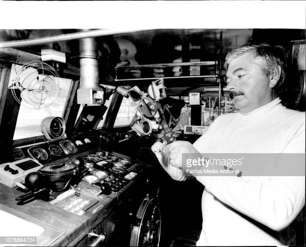 Mr. Geoffrey Hammond owner of the relay yacht Mia Mia which will relay back to the C.Y.C. The positions of the yachts in the Sydney Hobart Yacht...