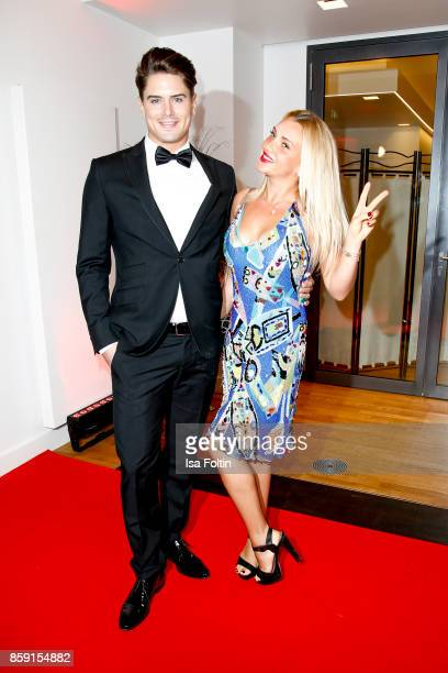 Mr. Germany 2017 Dominik Bruntner and former candidate of the TV show 'The Bachelor' Evelyn Burdecki attend the German Boxing Awards 2017 on October...