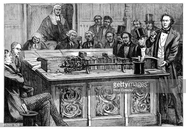 'Mr Gladstone attacking Mr Disraeli's first budget' 1852 A debate in the House of Commons between William Ewart Gladstone MP and Benjamin Disraeli MP...