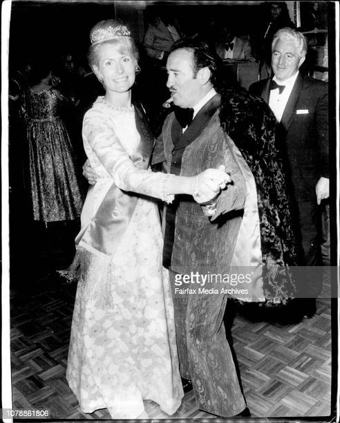Mr. Grassby dancing with Mrs. Laurel Anderson of French's Forest winner of the Queen of Hearts Quest. The quest was sponsored by the National Heart...