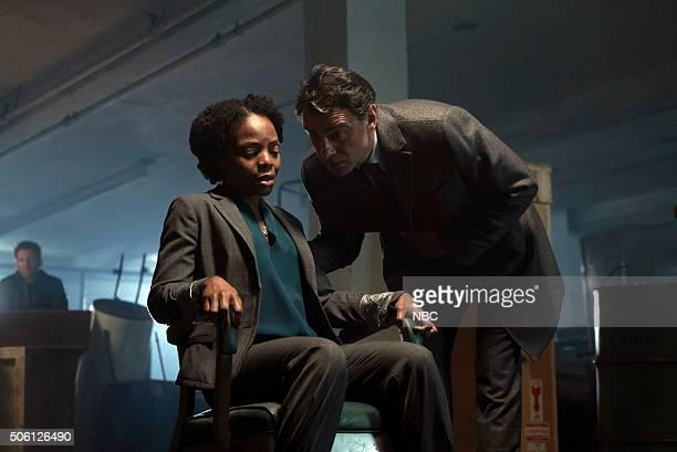 THE BLACKLIST Mr Gregory Devry Episode 311 Pictured Marsha Stephanie Blake as Janet Macnamara Vincenzo Amato as Marcus Caligiuri