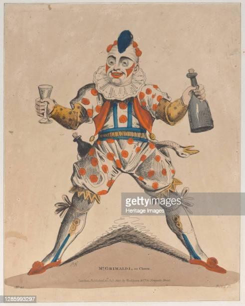 Mr. Grimaldi as Clown, July 13, 1822. Artist Possibly Piercy Roberts .