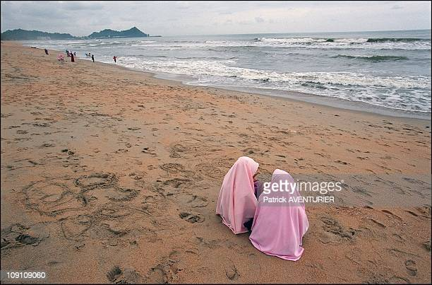 Mr Hadi Awang Leader Of The Parti Islam SeMalaysia And Koranic Schools In The Islamic State Of Terengganu On January 3Rd Malaysia Young Girls On The...