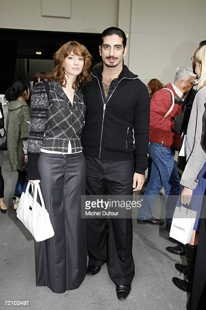 Mr Hariri and his wife attend the Chanel Fashion Show as part of Paris Fashion Week Spring/Summer 2007 on October 6 2006 in Paris France