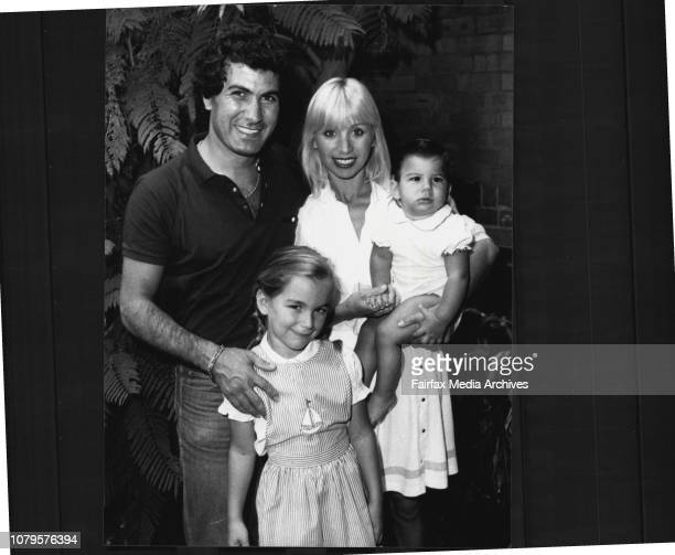 Mr. Harry Michaels and wife Effie, daughter Natalie, 6 and baby son Michael, 13 months at his place at glebe. February 1, 1984. .