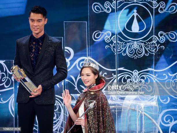 Mr Hong Kong Jackson Lai and Miss Hong Kong Crystal Fung Yingying during Miss Hong Kong Pageant 2016 at TVB TV City in Tseung Kwan O 11SEP16 SCMP /...