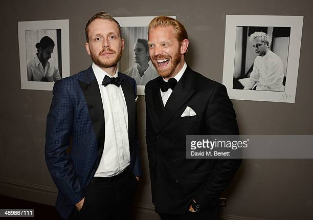 Mr Hudson and Alistair Guy attend a private celebratory dinner for Alistair Guy's exhibition 'White Shirts' at The Century Club on May 12 2014 in...
