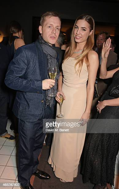 Mr Hudson and Amber Le Bon attend Anthony Price's 70th birthday party hosted by Nick Rhodes at Blakes Hotel on March 5 2015 in London England
