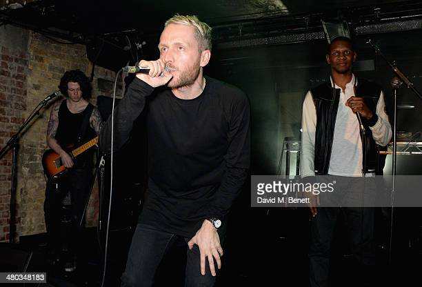 Mr Hudson and Giggs perform on stage at the Mr Hudson 'Step Into The Shadows' gig at London's The Box supported by Smirnoff on March 24 2014 in...