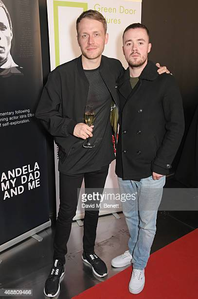 Mr Hudson and Maverick Sabre attend the premiere screening of 'Mandela My Dad And Me' at the BFI Southbank on April 7 2015 in London England