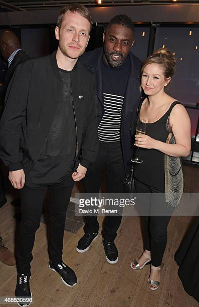 Mr Hudson Idris Elba and Lauren Roth de Wolf attend the premiere screening of 'Mandela My Dad And Me' at the BFI Southbank on April 7 2015 in London...