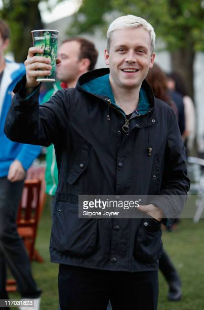 Mr Hudson is seen backstage during day two of Feis Festival 2011 at Finsbury Park on June 19 2011 in London United Kingdom