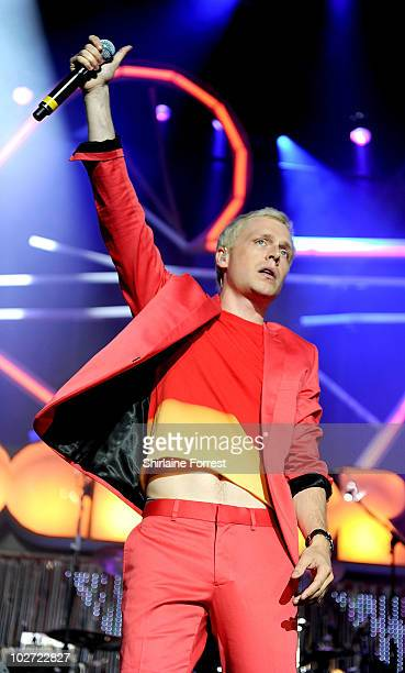 Mr Hudson performs at Manchester Apollo for Orange RockCorps on July 8 2010 in Manchester England
