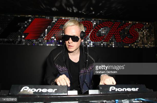 Mr Hudson performs during the F1 Rocks Melbourne After Party at Eve Nightclub on March 17 2012 in Melbourne Australia