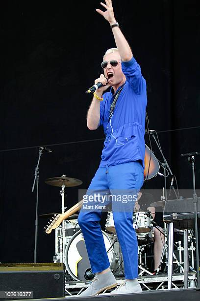 Mr Hudson performs on day 3 of the Barclaycard Wireless Festival at Hyde Park on July 4 2010 in London England