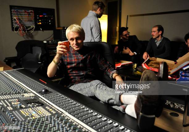 Mr Hudson relaxes during the 'Cage Against The Machine' Recording on December 6 2010 in London England