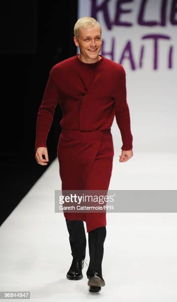 Mr Hudson walks down the catwalk at Naomi Campbell's Fashion For Relief Haiti London 2010 Fashion Show at Somerset House on February 18 2010 in...