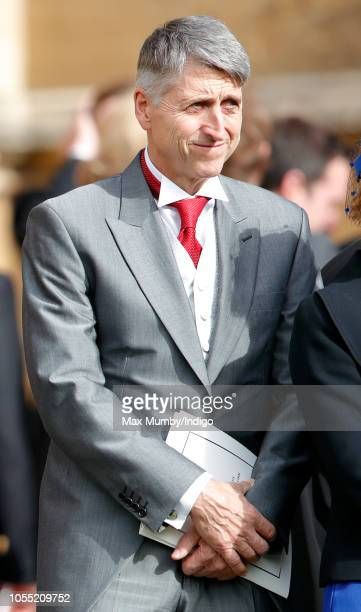 Mr Jan Lehovsky Consultant Orthopaedic Spinal Surgeon who performed surgery on Princess Eugenie to correct her scoliosis attends the wedding of...