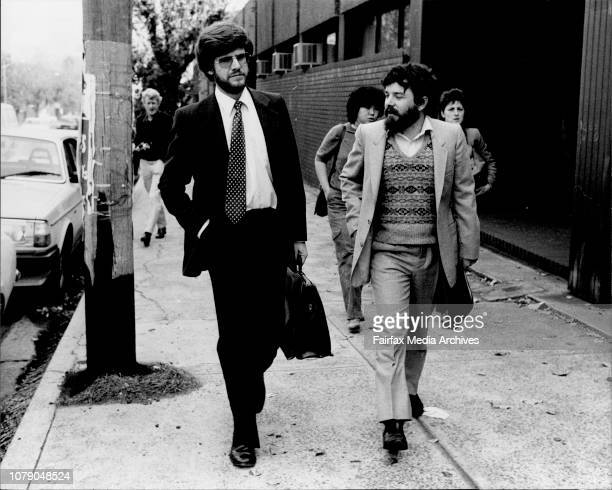 Mr John Basten barrister representing the Ananda Marga leaving courtCoroner's inquest into the Hilto bombing at Coroner's Court Glebe May 28 1982