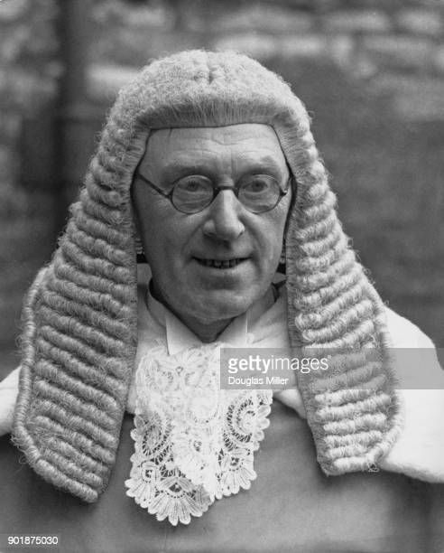 Mr Justice Birkett KC after attending the special service for the start of the Michaelmas law term at Westminster Abbey in London 14th October 1946...