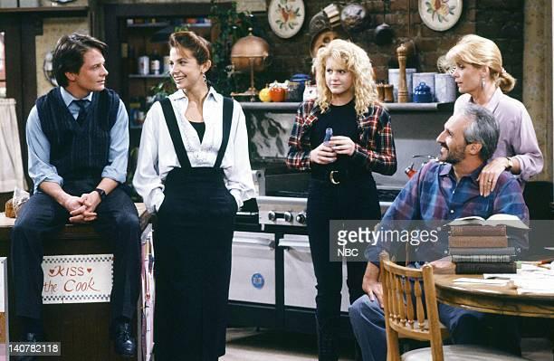 TIES 'Mr Keaton Takes a Vacation' Episode 24 Pictured Michael J Fox as Alex P Keaton Justine Bateman as Mallory Keaton Tina Yothers as Jennifer...