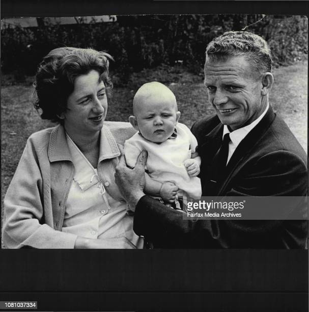 Mr Kevin Gadsby with his wife Brenda and son Robert at Royal North Shore hospital where Mrs Gadsby gave birth to Robert by natural means although she...
