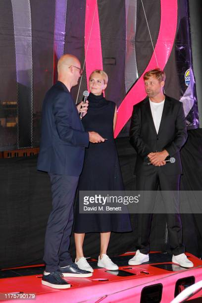 Mr Langer Poppy Delevingne and Alex Thomson attend the The 'HUGO BOSS' Boat Christening Ceremony and Cocktail Party on September 19 2019 in London...