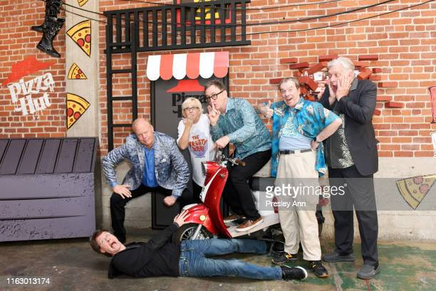 Mr Lawrence Bill Fagerbakke Carolyn Lawrence Tom Kenny Rodger Bumpass and Clancy Brown of 'SpongeBob Squarepants' attend the Pizza Hut Lounge at 2019...