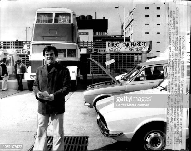 Mr Lazare Heman 39yearold Pharmaist who runs the direct Car Market at Grace Bros Broadway here pictured infront of some of the vehicle for sale at...