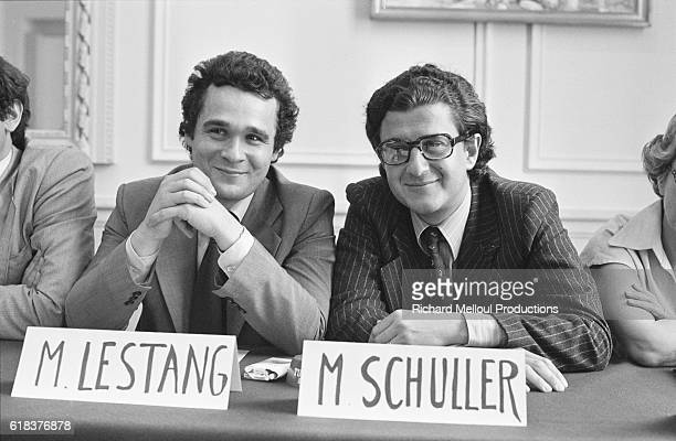 Mr Lestang and Didier Schuller attend a press conference for the Carrefour SocialDemocrate a meeting which brought together two rightwing...