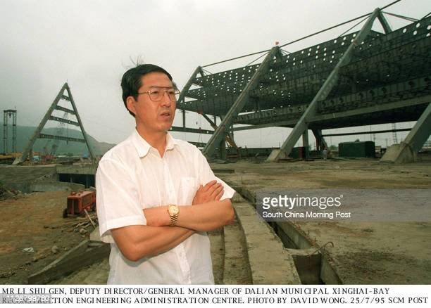 Mr Li Shu Gen deputy director and general manager of Dalian Municipal Xinghai Bay Reconstruction Engineering Administration Centre Photo by David...
