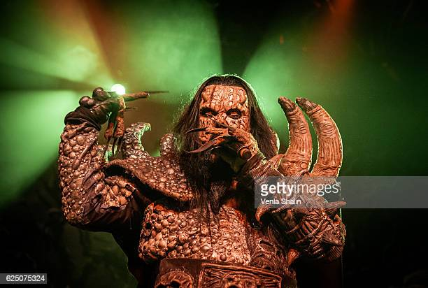 Mr Lordi of Lordi performs at O2 Academy Islington on November 20 2016 in London England