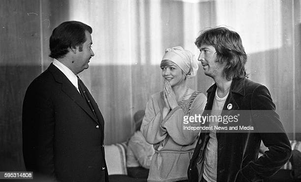 Mr Louis Bacardi head of the Bacardi empire with Judy Geeson and Eric Clapton